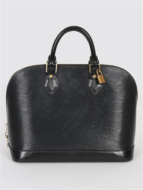Louis Vuitton Epi Leather Collection by Louis Vuitton Alma Pm Epi Leather Noir Luxury Bags