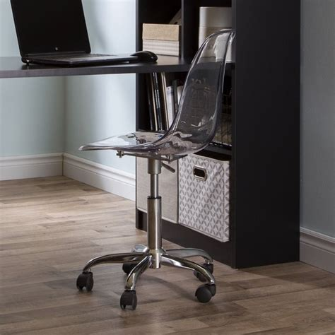 south shore academic desk south shore academic office chair in clear 100075