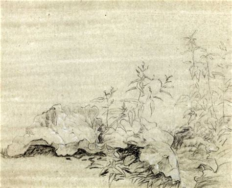 burdock leaves study of a pencil verso by