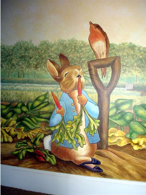 Beatrix Potter Wall Mural peter rabbit mural inspired by beatrix potter