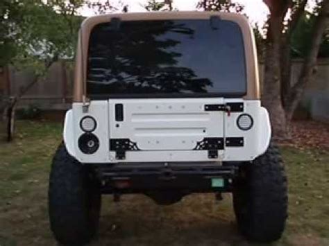 jeep wrangler tailgate conversion swag road jeep wrangler 97 06 tj lj fold