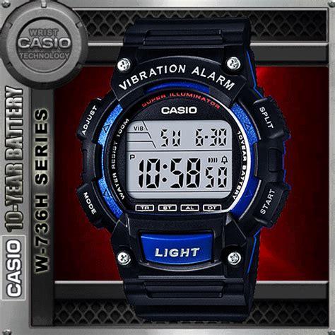 Casio Original Pria W 736h 2a casio w 736h 2av vibration alarm wat end 4 23 2018 9 59 pm
