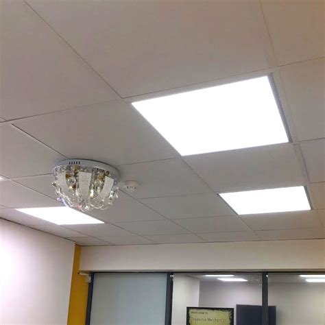 Lights For Suspended Ceilings 40w Led Recessed Ceiling Panel 600 X 600 Suspended Ceiling Grid Light Uk Ebay