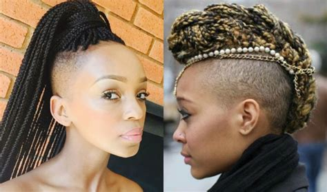 half head braids hairstyles half shaved head hairstyles for black women blackhairlab com
