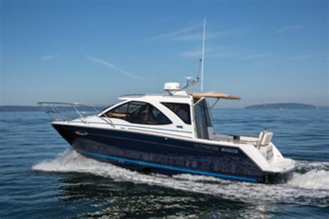 cutwater boats with outboards small packages good things new pocket cruisers