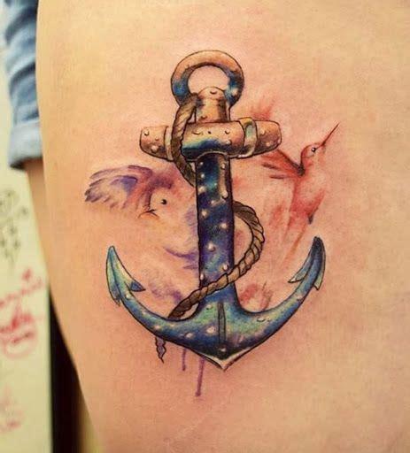 boat anchor tattoo designs watercolor este trabalho de aquarela best