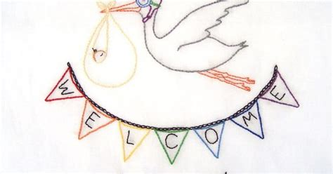 pattern classification stork pdf welcome to the world new baby hand embroidery pdf pattern