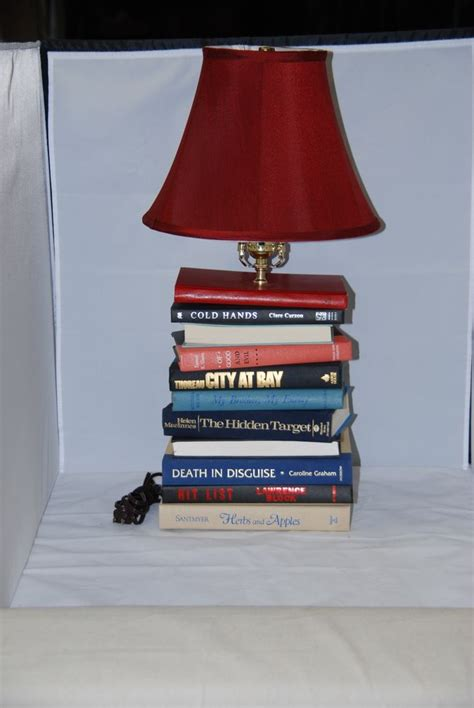 Book Table L by Book Table L Stack Of Books L Handmade Lighting