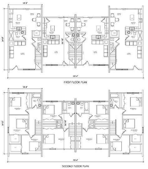 town home plans townhome building plans find house plans