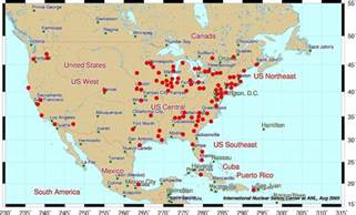 nuclear power plants in map nuclear power plants in usa map