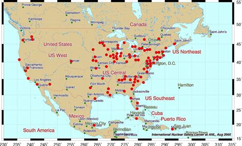 nuclear power plants in usa map nuclear power plants in usa map