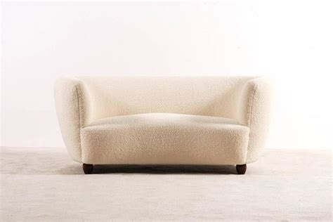 curved two seater sofa two seat curved sofa denmark 1940s at 1stdibs