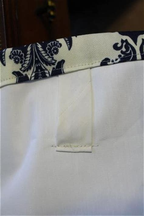 back tab curtains instructions how to sew tab back curtains guest tutorial little