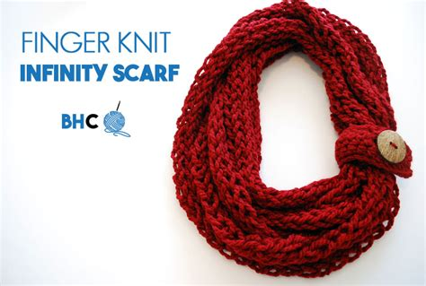 how to finger knit a scarf finger knit infinity scarf b hooked crochet