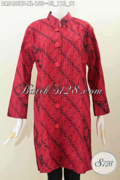 desain baju batik hitam baju dress batik solo monokrom warna merah hitam kombinasi