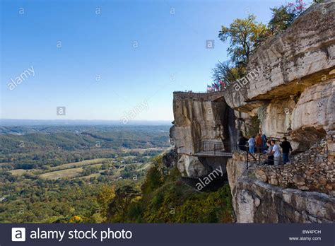 lover s leap in rock city gardens on lookout mountain