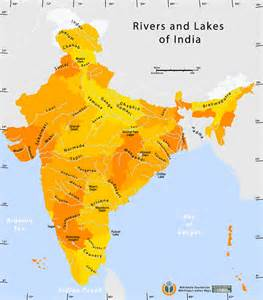 map of lakes and rivers india map 2016