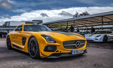 yellow mercedes sls amg black series gtspirit