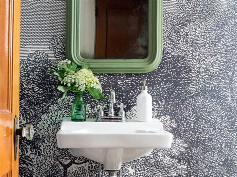 can i wallpaper a bathroom 10 gorgeous powder room design ideas hgtv