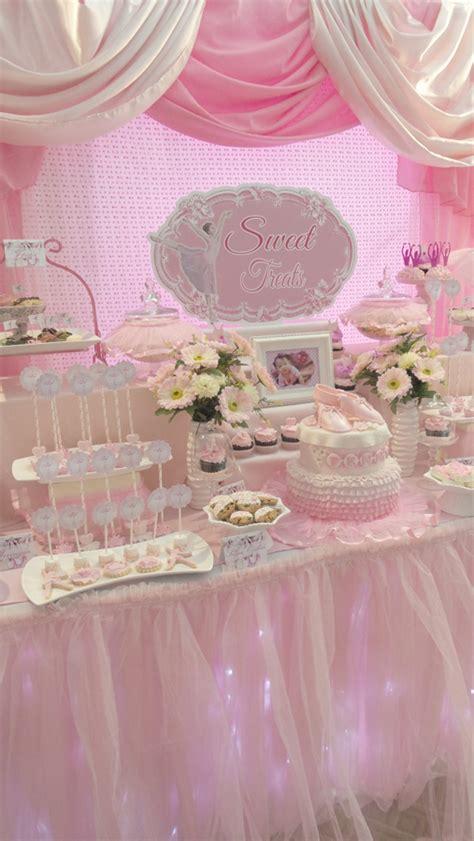 A Dreapink Ballerina Themed Dessert Table One