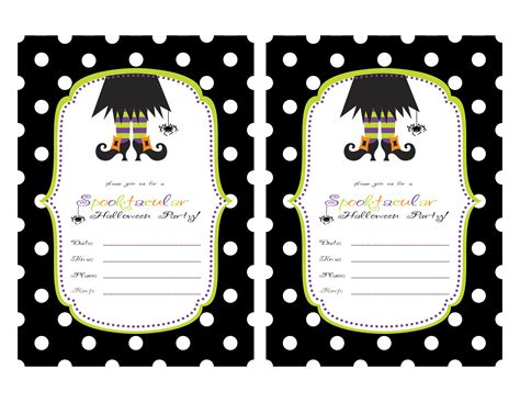 printable halloween party invitations print restlessrisa halloween party invitations