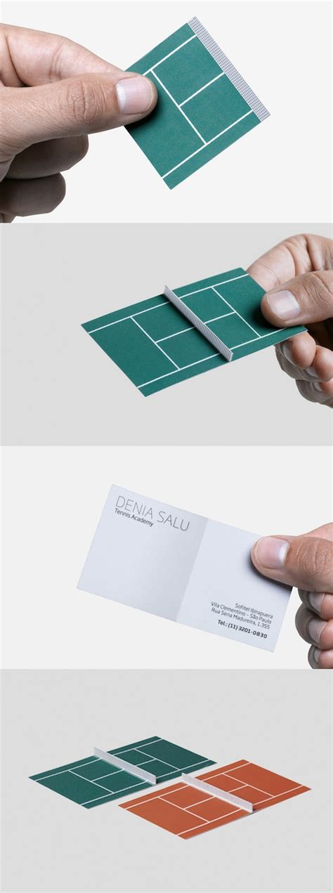 tennis business cards a creative business card that unfolds to become a
