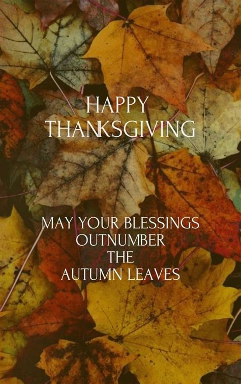 thanksgiving blessings images may your blessings outnumber the autumn leaves happy