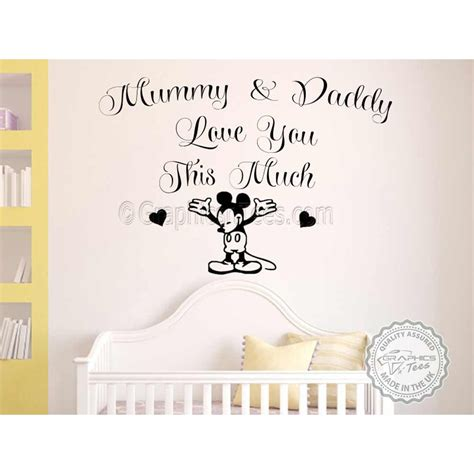 mickey mouse bedroom stickers mickey mouse nursery wall sticker bedroom decor decal