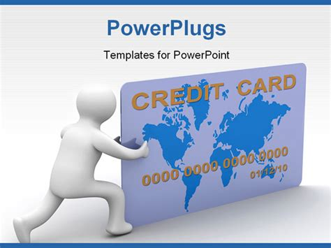credit card ppt templates free businessman with a credit card on a white background 3d