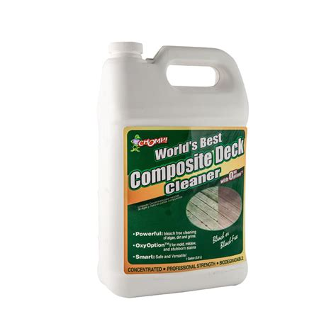 chomp  gal composite deck cleaner   home depot