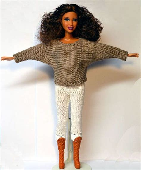 knitting pattern barbie clothes one of the better knitted sweater and pants set i have