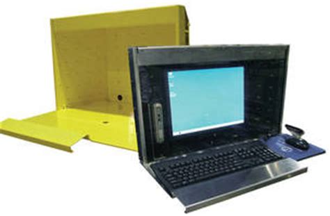 rugged thin client rugged enclosure protects thin client systems on shop floor