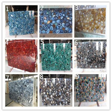 Mosaic Tiles For Kitchen Backsplash precious stone brazilian natural agate slices stone slabs