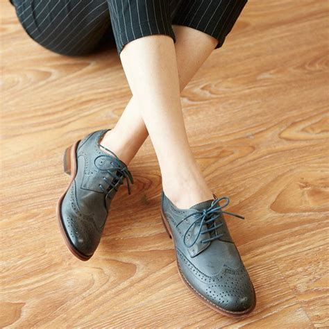 Flat Shoes Oe 17 s shoes genuine leather oxford shoes for retro classic leather flat shoes brand