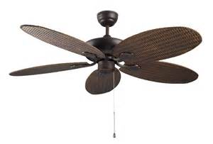 Rattan Ceiling Fans Rattan Style Ceiling Fan No Light