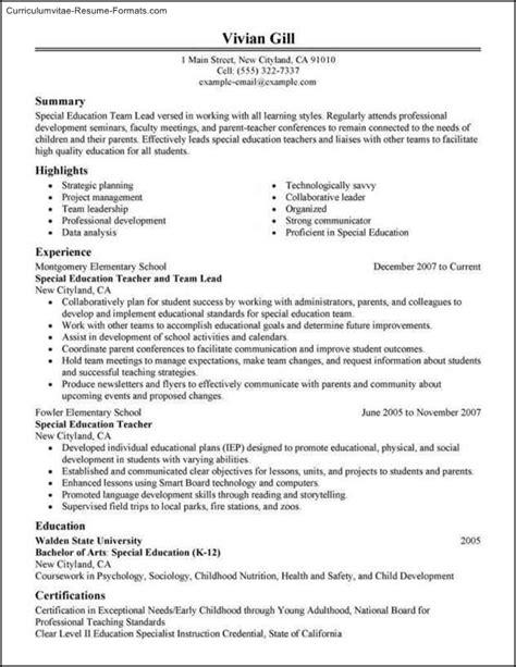 Leadership Resume Leadership Resume Template Free Sles Exles Format Resume Curruculum Vitae Free