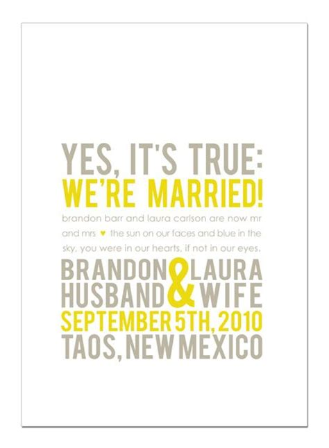 Wedding Announcement At Work by Elope Wedding Info