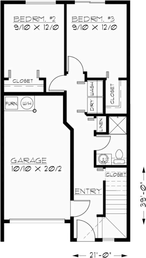 reverse house plans duplex house plans town house plans reverse living house plans