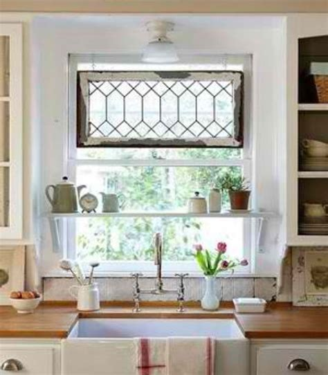 above the kitchen sink window treatments home decor