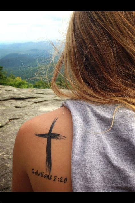 bible verse tattoo on shoulder blade eventually i want to get this cross tattoo maybe on the