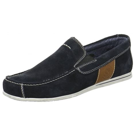 09762 14 navy suede slip on boat shoe