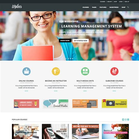 themes wordpress e learning wplms learning management system wordpress theme wpexplorer