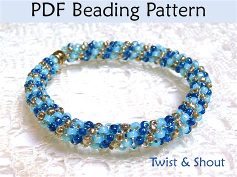 beading pdf beading tutorial pattern bracelet necklace tubular