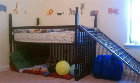 crib turned into toddler bed i turned my son s crib into a toddler loft bed with only