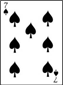 clipart 7 of spades