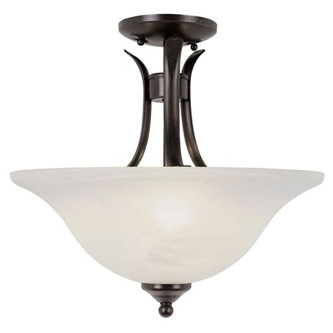 Semi Flush Mount Ceiling Lights Plc Lighting 1 Light Rubbed Bronze Ceiling Semi Flush Mount Light With Polished Brass Acid