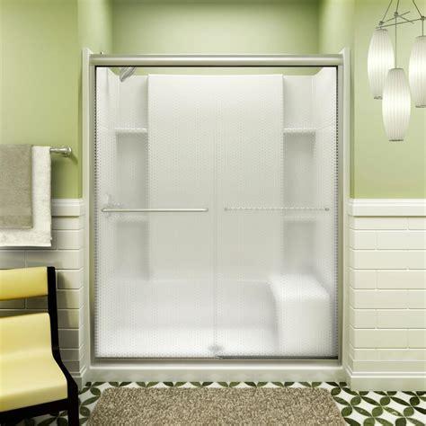 sterling bathtub door sterling prevail 57 in x 59 3 4 in framed sliding