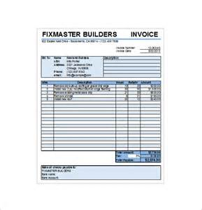 roofing invoice template free contractor receipt template 14 free sle exle