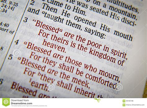 Bible Text With The Blessings Stock Photo Image 69160198