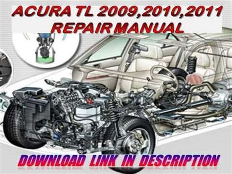 acura tl 2009 2010 2011 repair manual youtube